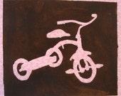SALE Pink Trike on a White Lap Shirt 18 Months