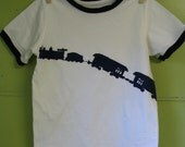 SALE Blue Train on White T-Shirt Size 5T