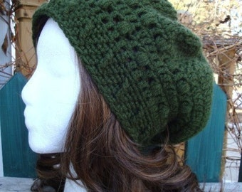 Celebrity Style Beret-Tam-Snood.....Hunter Green