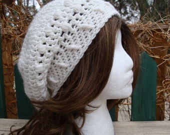 Celebrity Style Beret-Tam-Snood..... White