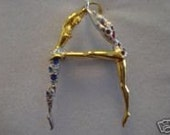 Erte Letter A Initial OOAK Pendant and Necklace  A to Z  Available