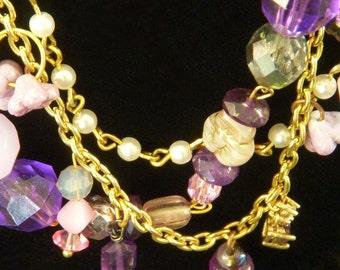 PURPLE, purple, PuRpLe, PURPLE, Lavender, Lilac, Violet, Amethyst Necklace