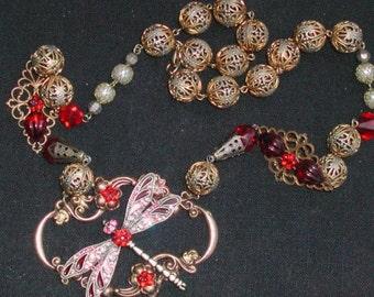 Art Nouveau Dragonfly Necklace