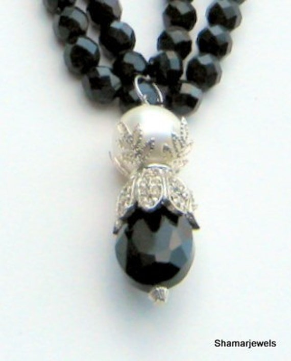 Items Similar To Black Tie Affair 1940s Old Hollywood Glamour Costume Jewelry Necklace Or Choker