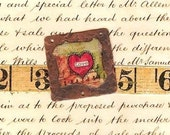 """VALENTINE'S DAY - Copper Handcrafted """"love 2"""" Pendant - Collage - SRA - CBandCO"""