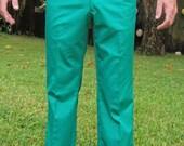 Mens Vintage Gumby Green Pants