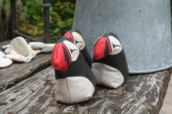 VINTAGE Bean Bag PUFFINS - for juggling - hobby - arctic animal