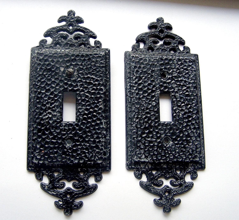 Vintage Ornate Light Switch Covers Plates Black Fancy