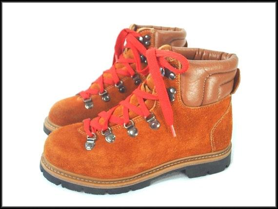 Vintage 70 S Waffle Stompers Lace Up Hiking Boots Size 8