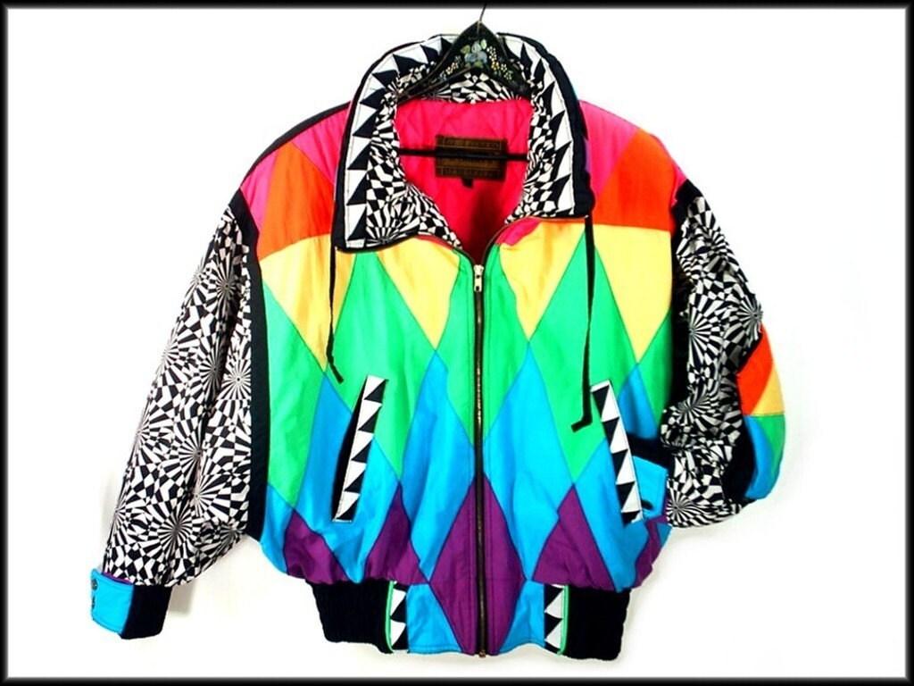 ultimate 80's neon puffy ski jacket vintage avant garde