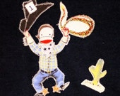 Yeee Haaaa Sock Monkey Cowboy....CUSTOM LMORELLO
