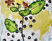Wings of Floral Beads - Original Painting