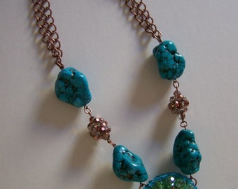 Turquoise Rocks Necklace