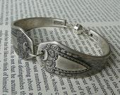 Antique Silver Spoon Bracelet - Heraldic 1916