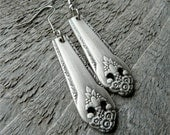 Vintage Earrings Made from Silver Spoons