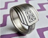 Silver Spoon Ring -  Vintage Pattern: Clarion 1931