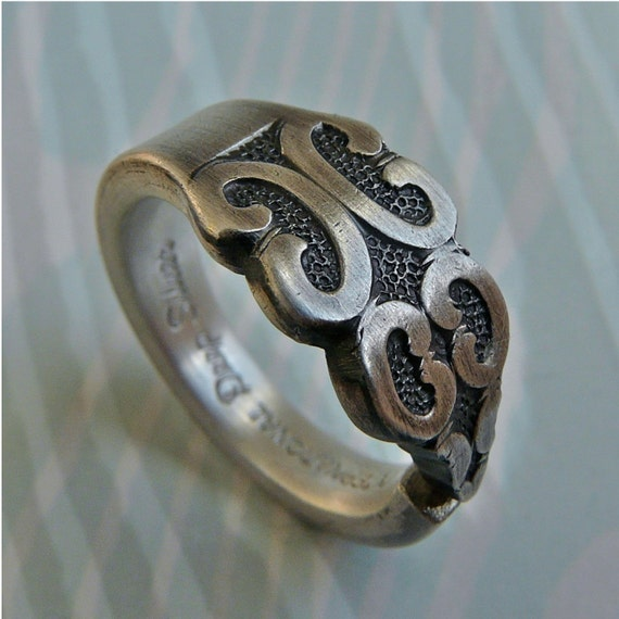 ON CLEARANCE... Eternity - last one left, Antique Silver Spoon Ring includes Care and Cleaning Kit