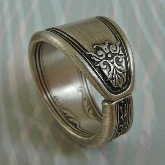 Ambassador, Antique Silver Spoon Ring from 1919, Only 1 Left