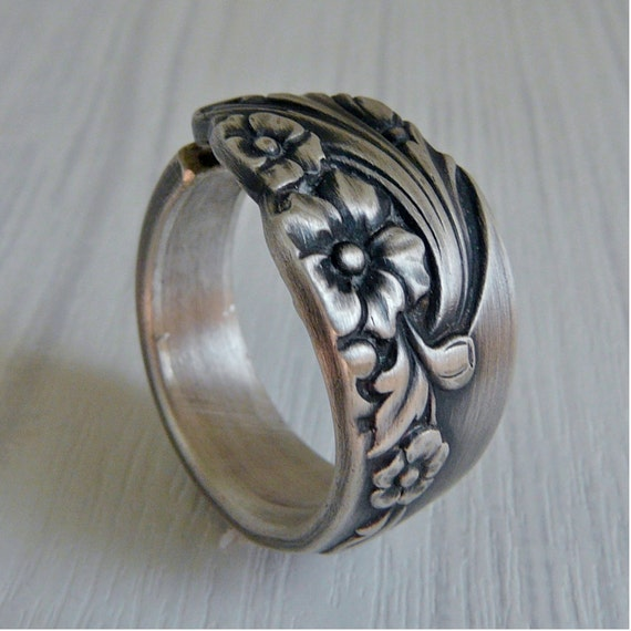 Silver Spoon Ring - Evening Star 1950
