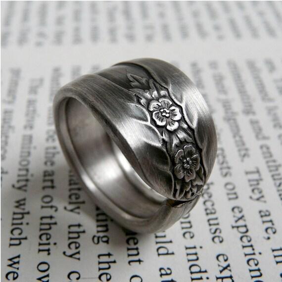 Vintage Spoon Ring - Blossom, Custom Sized Silverware Jewelry