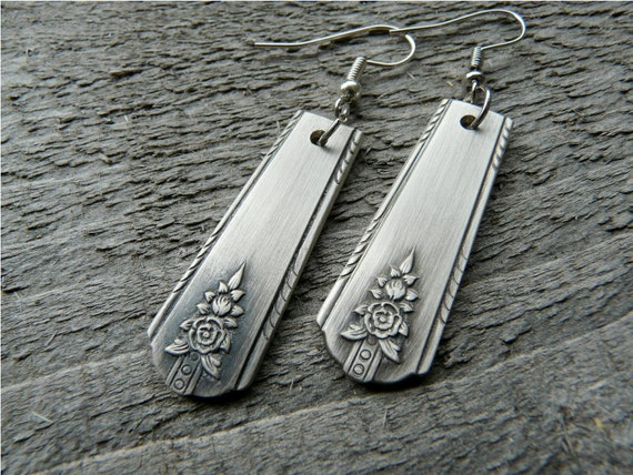 Earrings Made from Vintage Silver Spoons