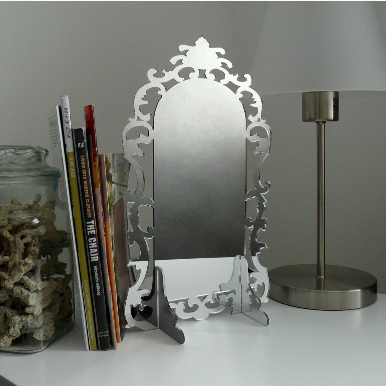 Acrylic mirror modern design rococo style by revisions on etsy for Modern rococo interior design