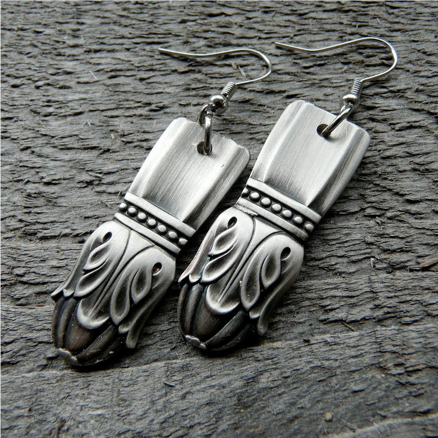 silver spoon earrings antique silverware jewelry by revisions
