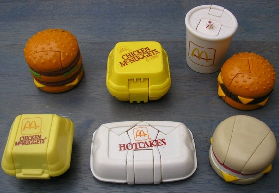 Fast Food Toys : Vintage s mcdonalds fast food transformers toys lot