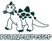 Pflanzenfresser - German - Plant Eater - Dinosaur - Vegan - Vegetarian - Herbivore - M L XL 2XL