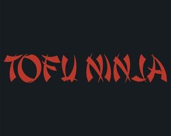Long Sleeved Hoodie - Tofu Ninja - American Apparel -  Vegan - Vegetarian - XL