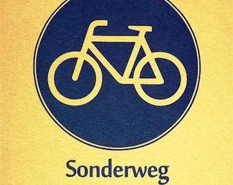 German Biking Shirt - Bike Sign - Sonderweg fuer Radfahrer - S M L XL