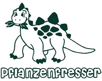 Pflanzenfresser - German - Plant Eater - Dinosaur - Vegan - Vegetarian - Herbivore - Large Only
