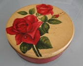 Vintage Rose Tin Full of Old Buttons