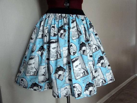 Elvis Clothing, Novelty Skirts, Womens Skirts, Nostalgia Clothing, Handmade Elvis Novelty Skirt