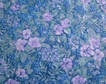 Floral Polyester - Vintage Fabric- Wide