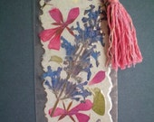 Handmade Paper, Pressed Flower Bookmark