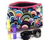 The Beatles- Yellow Submarine Large Make-Up Bag with Black Waterproof Lining