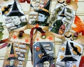 Old Witch Halloween Tags - PDF vintage saying photos sayings