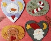 Christmas wintertime Wool Pin Pdf PATTERN - embroidery