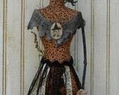 Halloween Witch Mannequin Dress Form E Pattern -  Pdf Pincushion Pin Keep email primitive pinkeep cushion
