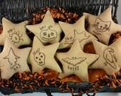 Haunted Halloween ornies Stitchery Pattern PDF - primitive boo embroidery