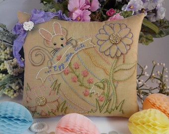Easter bunny Mouse embroidery craft Pattern PDF