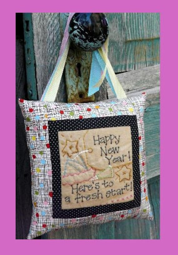 Items similar to Happy New Years Stitchery embroidery PDF ...