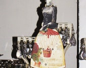 FRANNY the Christmas STEAMPUNK Articulated Paper Doll 11 inches Vintage Victorian