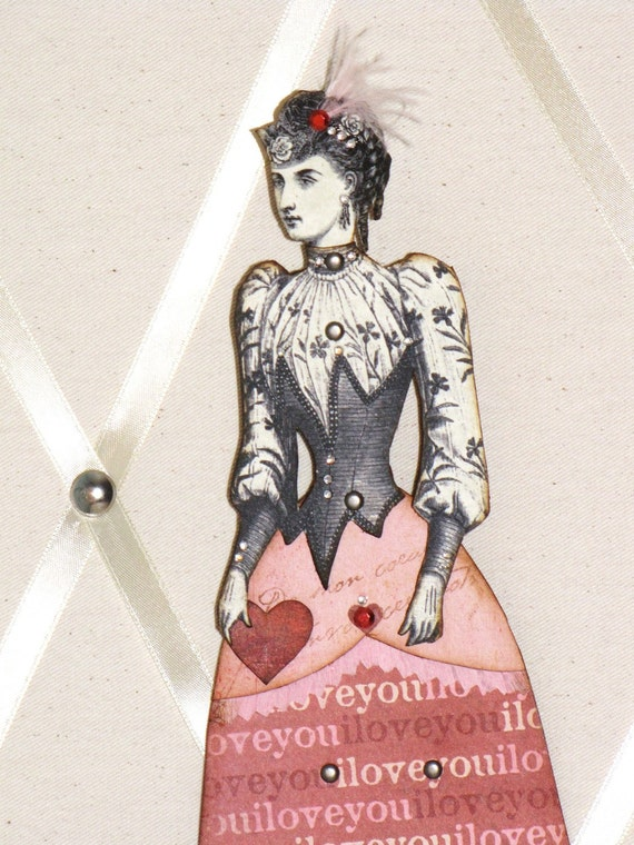 SALE JEZEBEL the Valentine Articulated Paper Doll 10 1/4 inches Vintage Victorian Steampunk