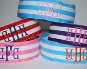 Embroidered 3 letter Monogram Headband Custom