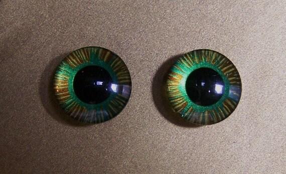 Handpainted custom Blythe eyechips no.83 by Moofala