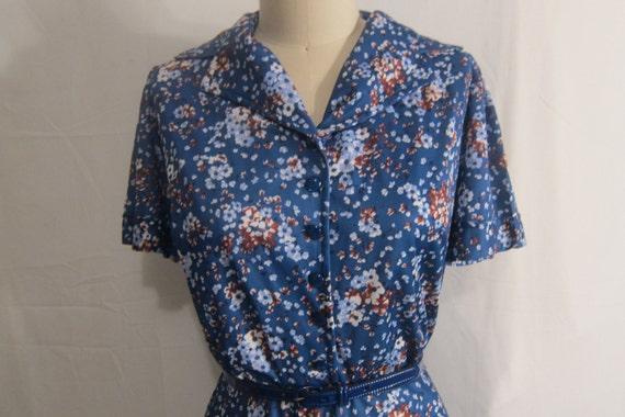 Vintage 1960's Floral Dress XL-XXL
