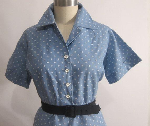 Vintage 1950's Shirtwaist Dress XL-XXL
