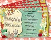 ReTRo RaMa Digital DoMeSTic DiVA1960's Recipe Cards